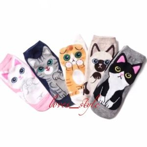 CAT LOVERS SOCK COLLECTION / 5 PAIRS